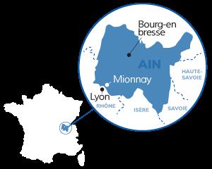 Localisation de Mionnay en France